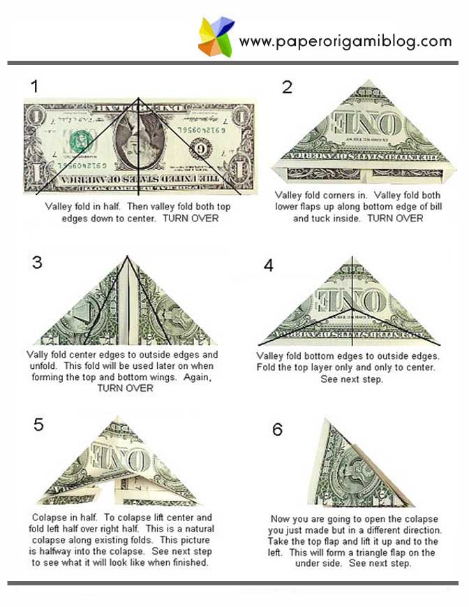 How To Fold Origami Heart Out Of A Dollar