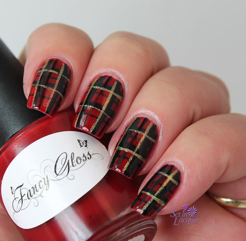 Plaid nail art saturday october 22 2016 prinsesfo Choice Image
