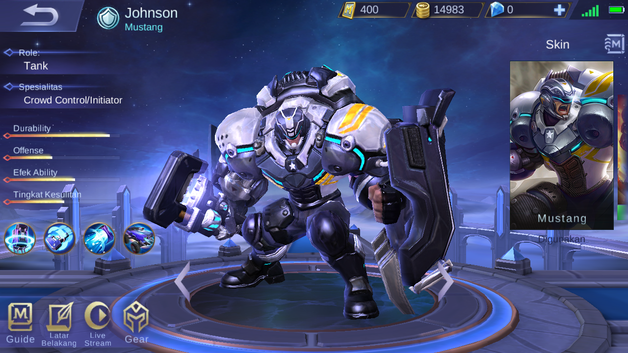 62 Gambar Hero Mobile Legend Johnson Terbaru