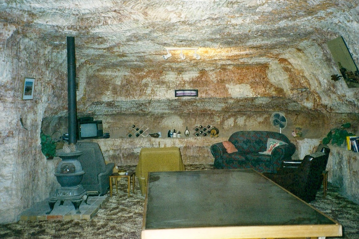inside an underground home