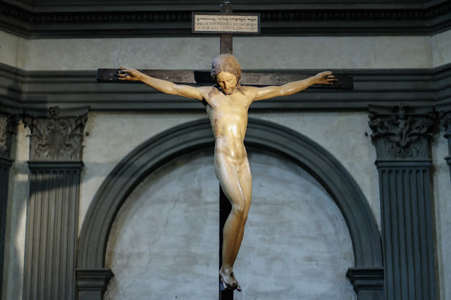 Restored Michelangelo crucifix gets pride of place at Santo Spirito basilica in Florence