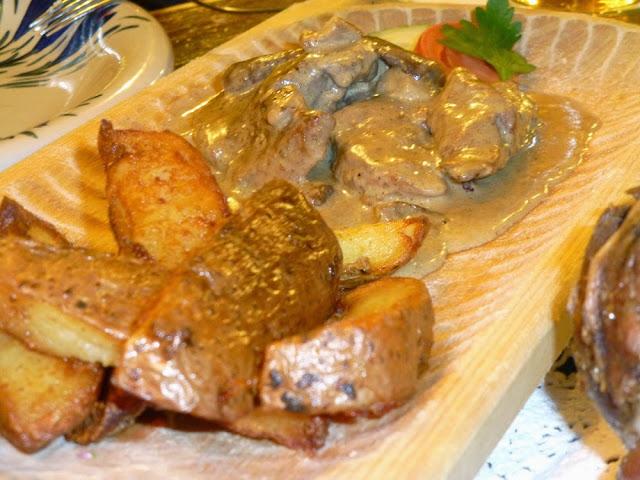 Ternera con salsa de Champiñones, Morskie Oko, Cracovia