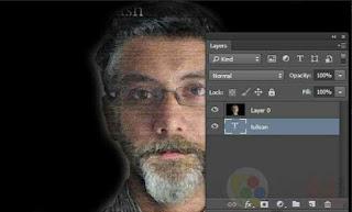Wajah Cara membuat typography wajah dengan photoshop