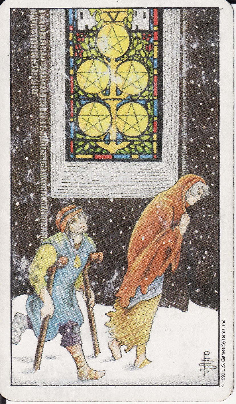 TAROT - The Royal Road: 5 FIVE OF PENTACLES V