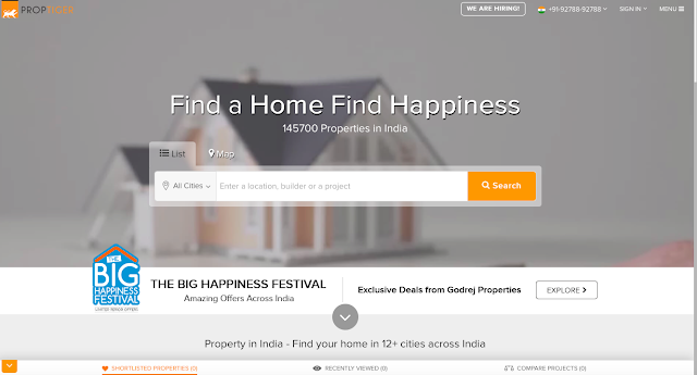 """PropTiger.com partners with Godrej Properties to launch """"The Big Happiness Festival"""""""