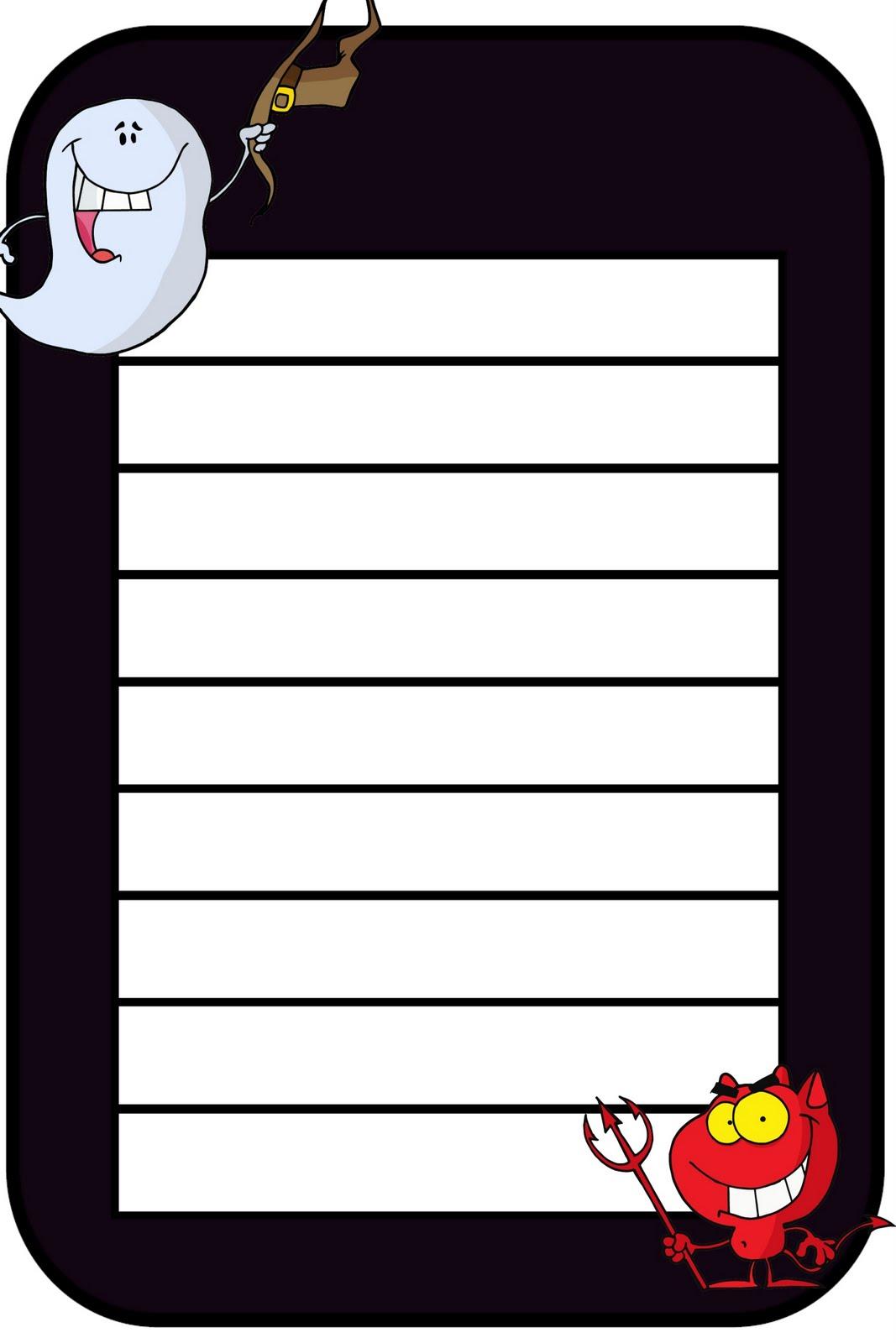 Debbie S Resource Cupboard Halloween Writing Frames