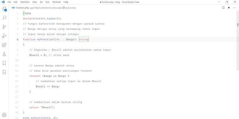 Ilustrasi PHP Function
