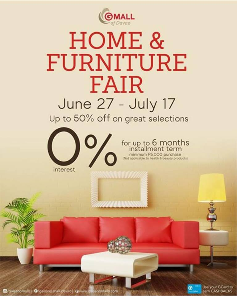 D I G G Davao Gaisano Mall Of Davao Home Furniture Fair Till July 17 2016 Gaisanomalldavao