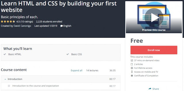 [100% Free] Learn HTML and CSS by building your first website