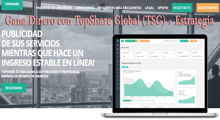 TopShareGlobal (TSG): Qué es y Cómo funciona - New RevShare