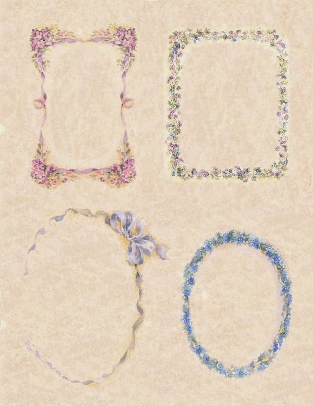 Free Printable Frames with Flowers.