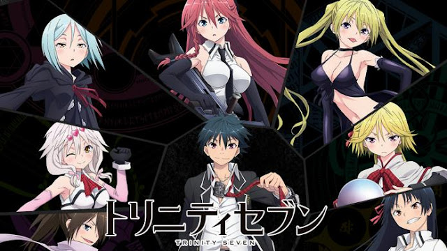Trinity Seven - Daftar Anime Fantasy School Terbaik