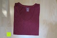 zusammengefaltet: Lands' End - Baumwoll/Viskose-Shirt mit V-Ausschnitt