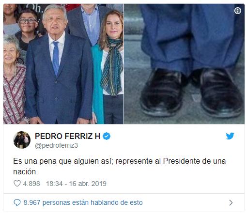 Los zapatos de AMLO
