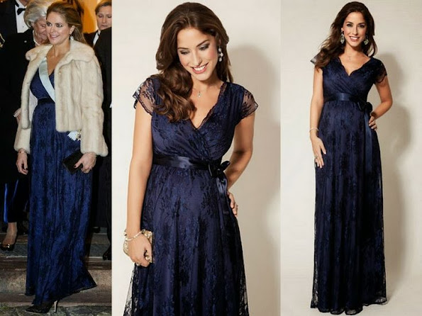 Swedish Princess Madeleine wore Tiffany Rose Lace Dress in blue