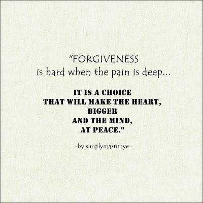 Forgiveness by simplymarrimye
