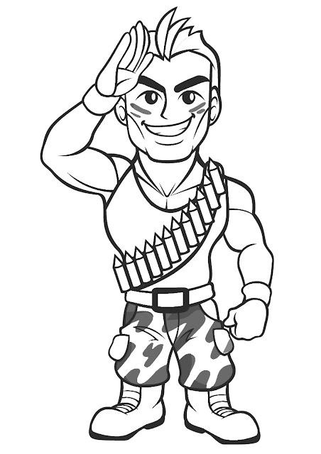 Gambar Mewarna Askar Komando