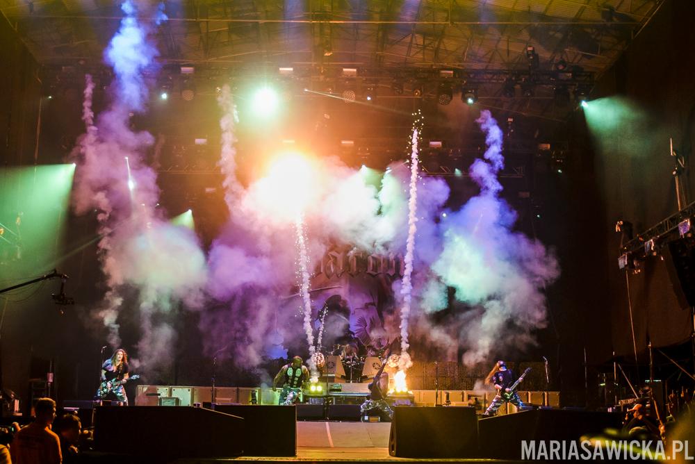 Sabaton pyrotechnics fireworks stage Czad Festiwal