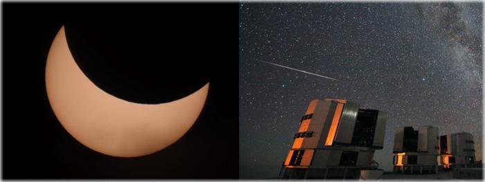 eclipse solar 11 de agosto e pico da chuva de meteoros Perseidas 2018 - fotos
