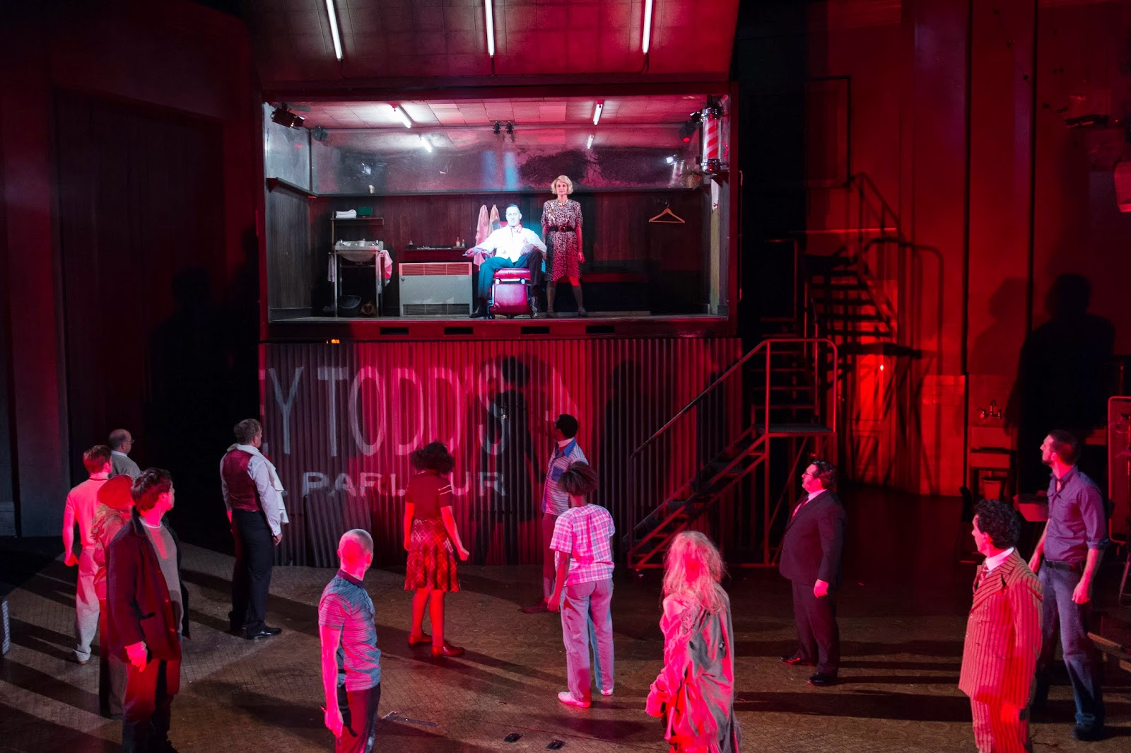 Sweeney Todd - David Birrell, Gillian Bevan & Ensemble  Credit: Manuel Harlan