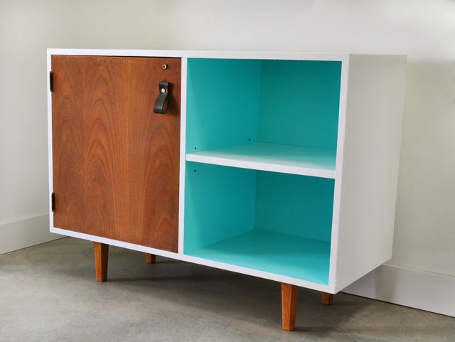 Before and After: Mid-Century Modern Cabinet | Poppytalk
