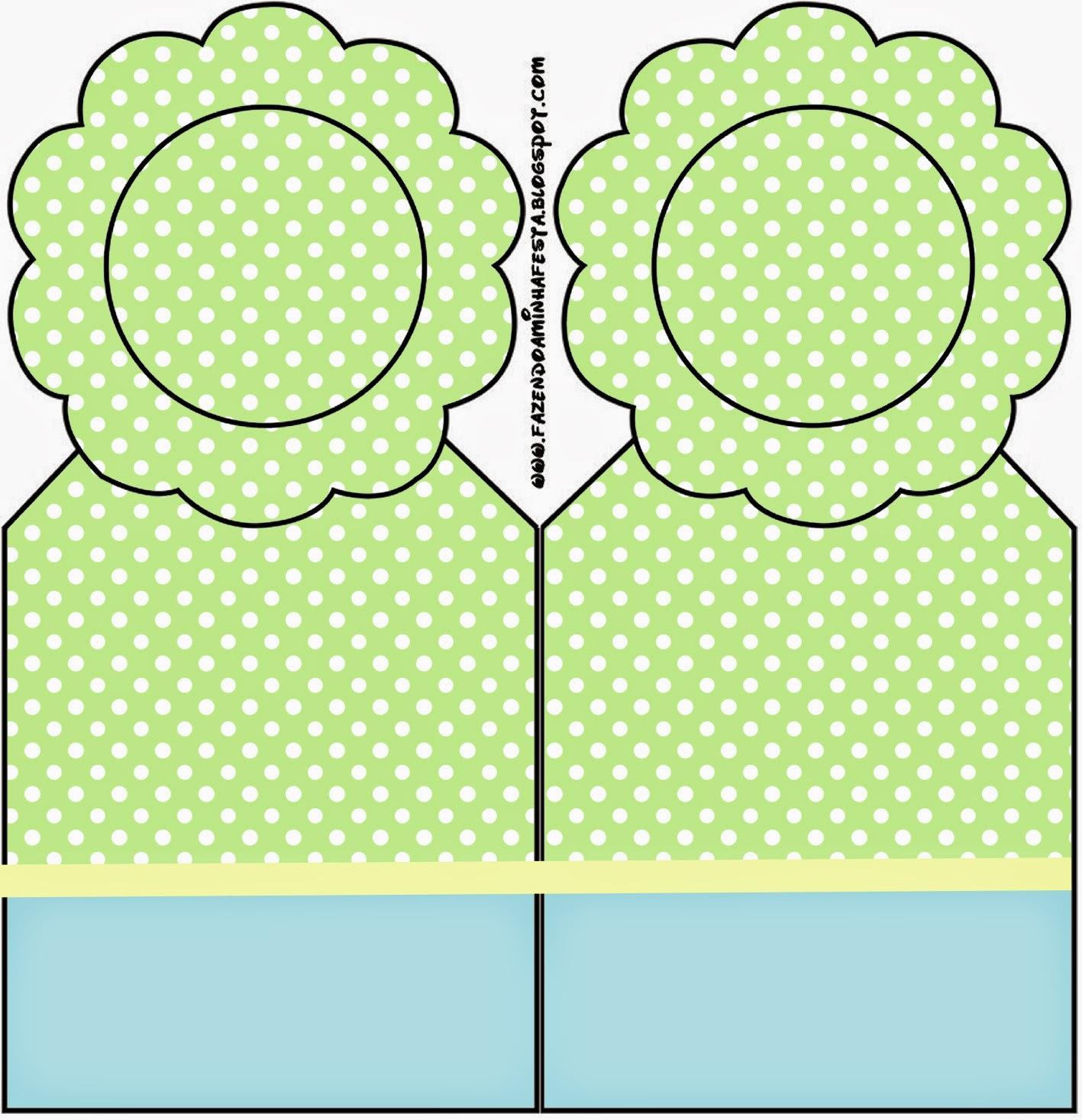 Para marcapáginas de Verde y Celeste.
