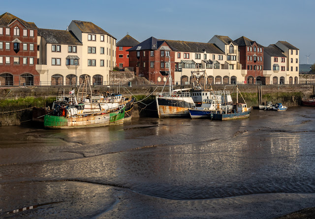 Photo of another view of Maryport Harbour at low tide