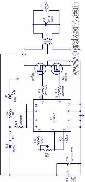 Skema Inverter Dc To Ac 220v 200 Watt Kampung Elek Trik