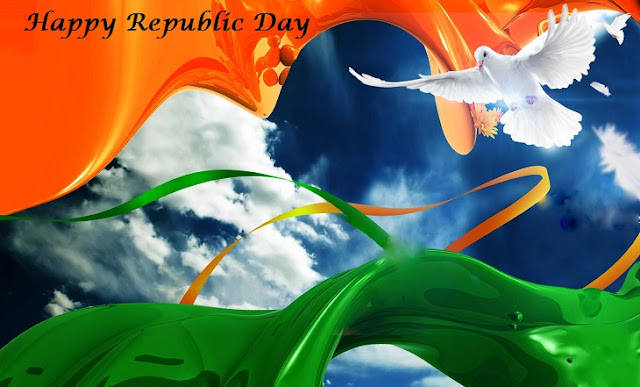 Republic Day smart Whatsapp Status DP Images Facebook Hike Sticker Timeline