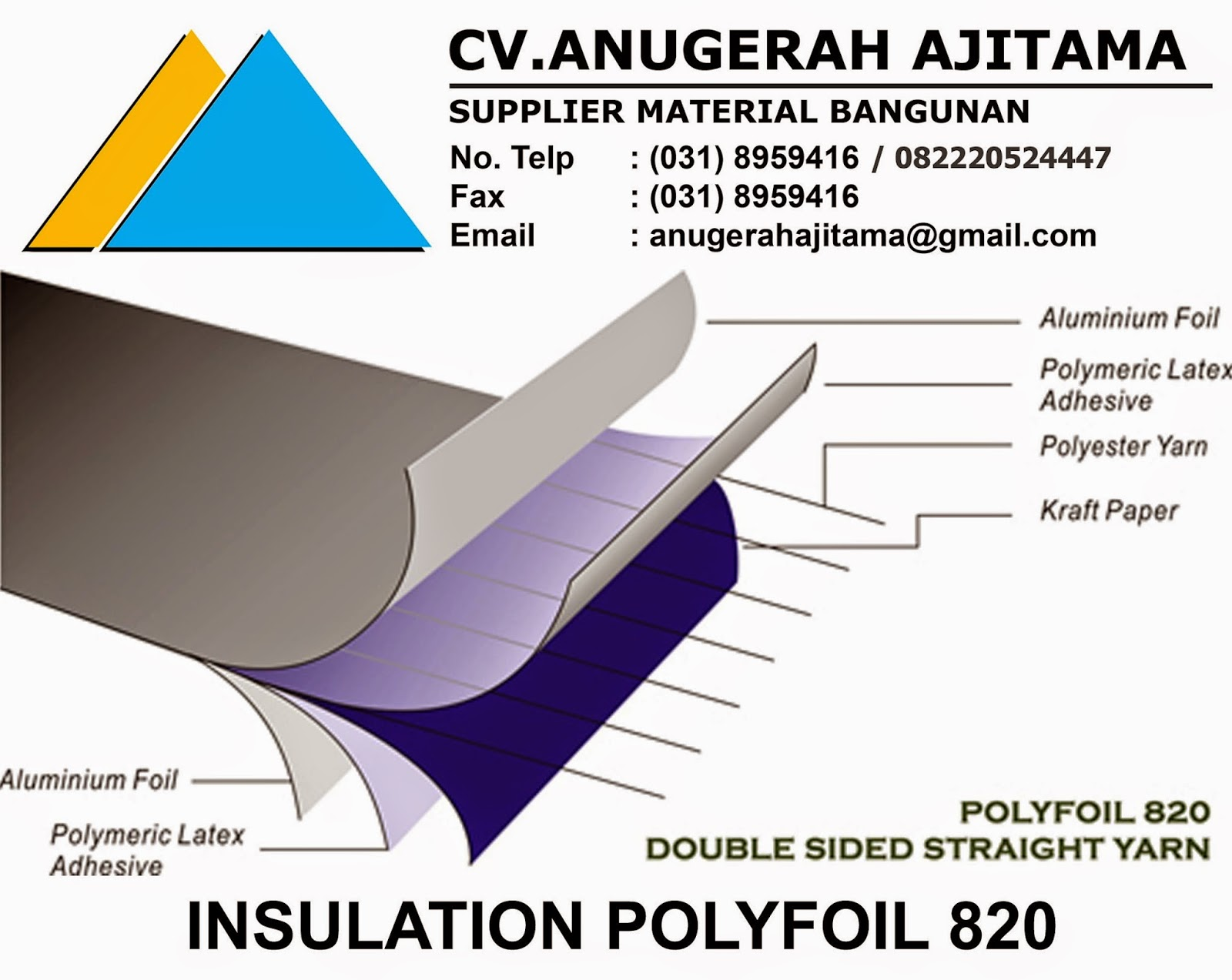 JUAL INSULATION POLYFOIL 820