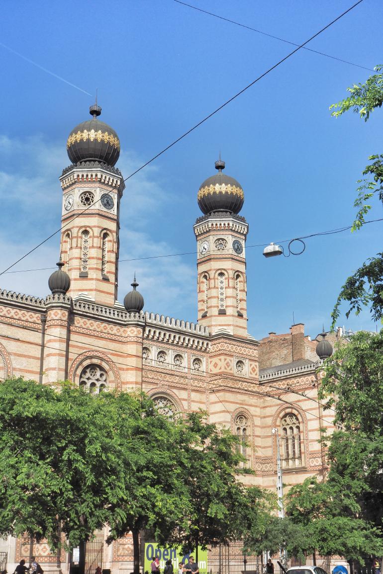 Grande synagogue de Budapest en Hongrie