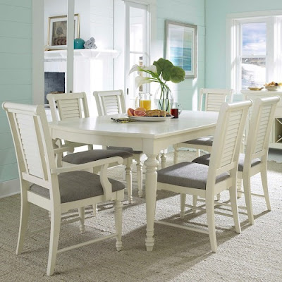 beach themed dining room set at Baer's Furniture