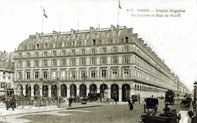 Grands Magasins du Louvre, c.1890, originally from fr.wikipedia, public domain