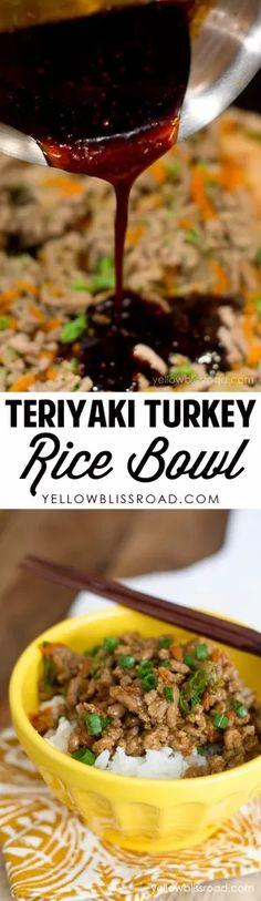 GROUND TURKEY TERIYAKI RICE BOWL | BRAND KNEW RECIPES
