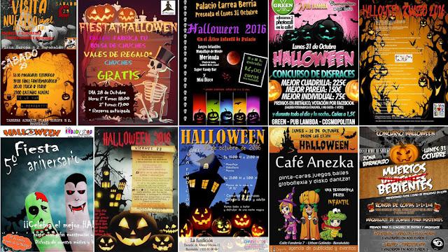 Agenda de actividades de Halloween en comercio y hostelería