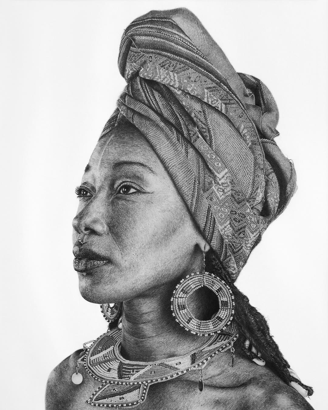 01-Fatoumata-Diawara-Monica-Lee-zephyrxavier-Eclectic-Mixture-of-Pencil-Wild-Life-and-Portrait-Drawings-www-designstack-co