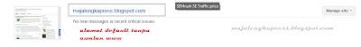 tampilan pada webmaster tools