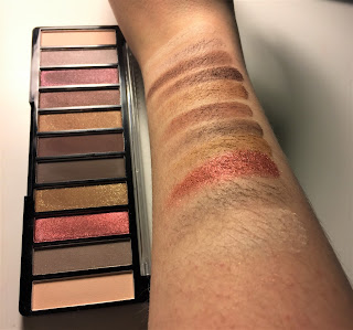 The Color Workshop Fashion Palace natural eyeshadow palette swatch