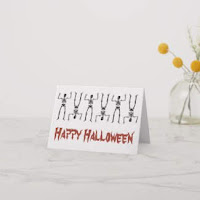 Silly Skeletons greeting card by Mindful Humanism