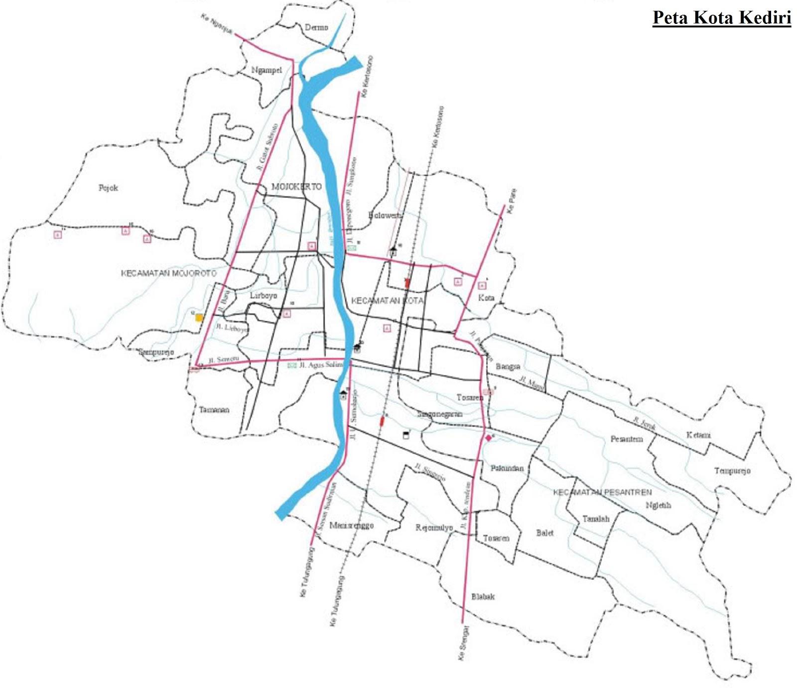 Peta Kota Kediri HD
