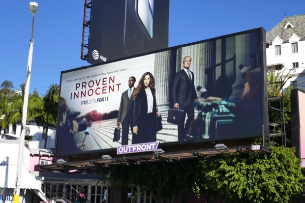 Proven Innocent series premiere billboard