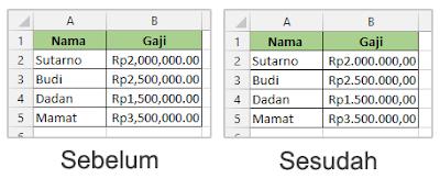 Mengubah Tanda Koma Menjadi Titik di Microsoft Excel