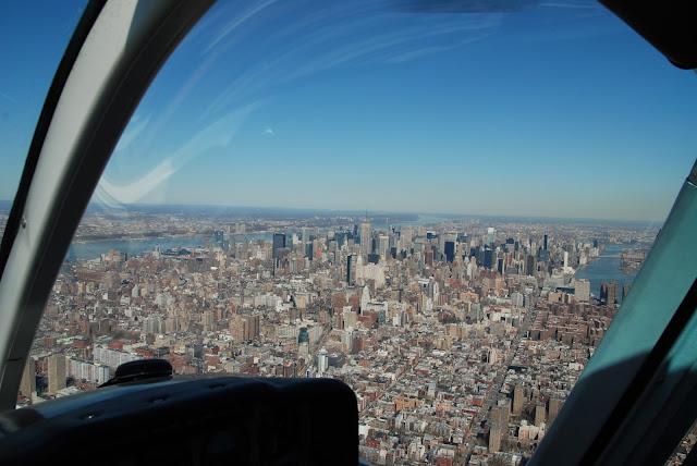 heli flug über new york