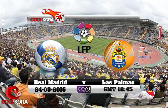 مشاهدة مباراة لاس بالماس وريال مدريد اليوم 24-9-2016 في الدوري الأسباني