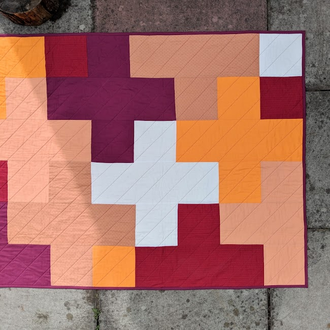 Big Plus solid fabric quilt