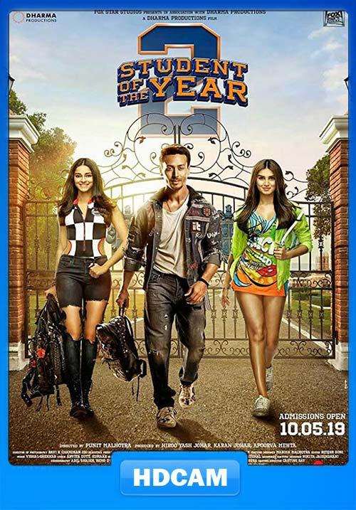 Student of the Year 2 2019 720p PreDVDRip X264   480p 300MB   100MB HEVC Poster