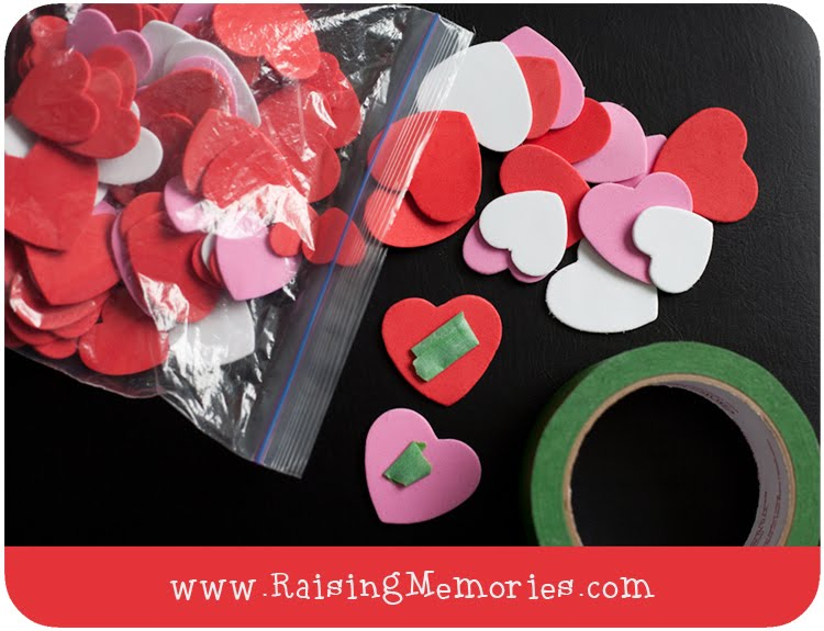 Dollar Store Valentine Decor and Activity Love One Another Wall