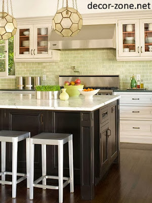kitchen backsplash tile ideas in a fresh lime color