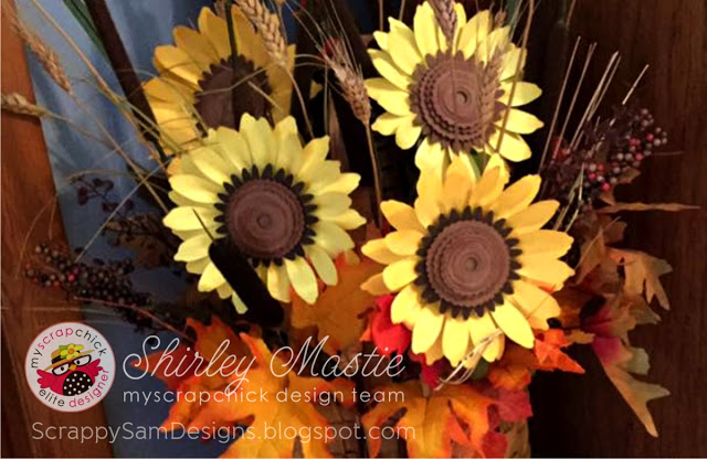 Update last years fall bouquet with Paper Sunflowers