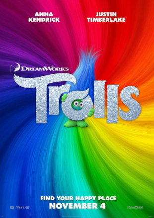 Poster of Trolls 2016 Full Movie BRRip 480p English 300Mb ESub